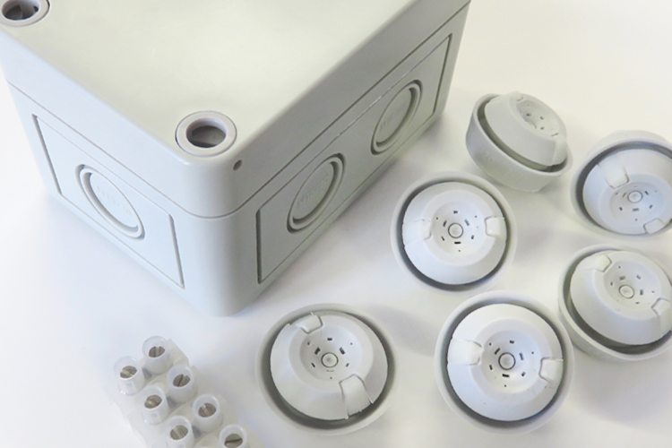 Electrical junction boxes and accessory kits