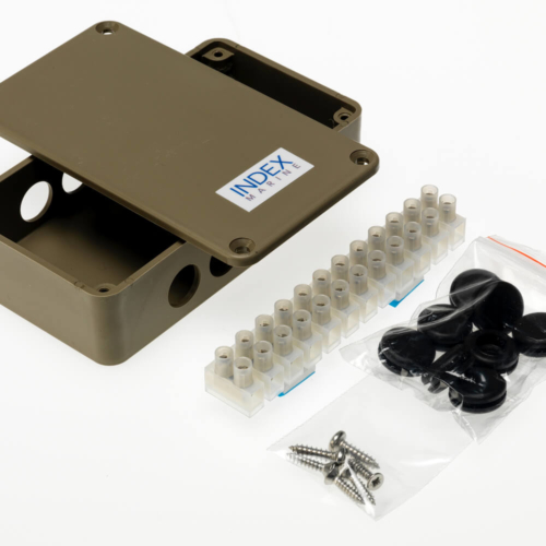 A4-JB3P- Electrical Junction box with 12 way connector block and grommets.